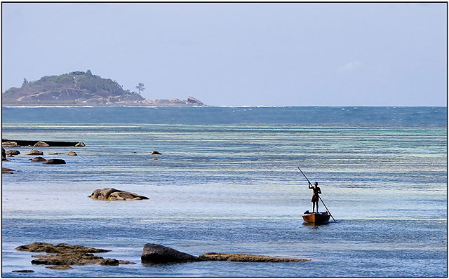 Seychelles - Mahe - lonely fisher